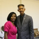 Jean with John Lomacang from 3ABN